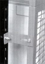 Offset rack cage mounting