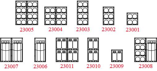 Welded aluminum cylinder cage sizes