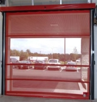 High Speed Vinyl Amp Mesh Roll Up Dock Doors Goff Enterprises Industrial Doors