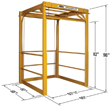 mezzanine safety gate with dimensions
