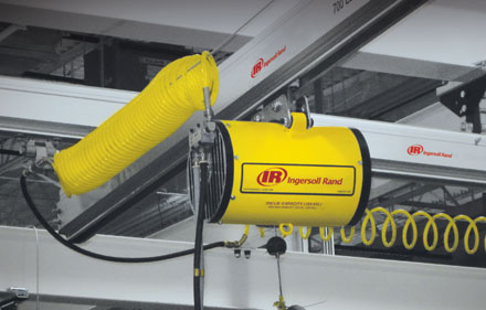 air balancer and rail system