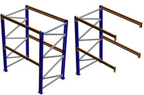 Mecalux Seismic Rack, Complete Racks