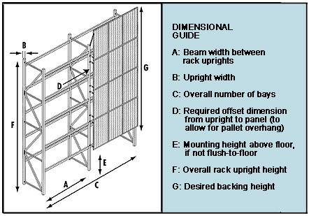 Pallet Rack Security Partitions Wire Mesh Rack Security
