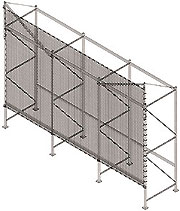 flush mount safety netting for pallet rack