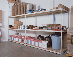 rivet shelving installation