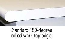 rolled workbench edge