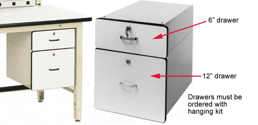 modular drawers for workstations