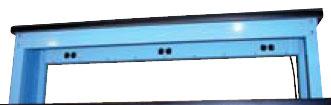 Riser Shelf with electrical strip
