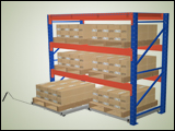Floor Mounted Roll Out Pallets