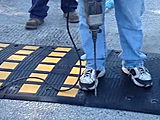 PostGuard Speed Hump Installation