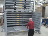 Combination Folding Roll-Out Rack with Sheet Stacker