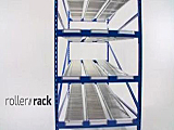 Unex Roller Rack for Carton Flow
