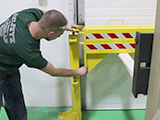 Folding Rail Dock Safety Gate Installation
